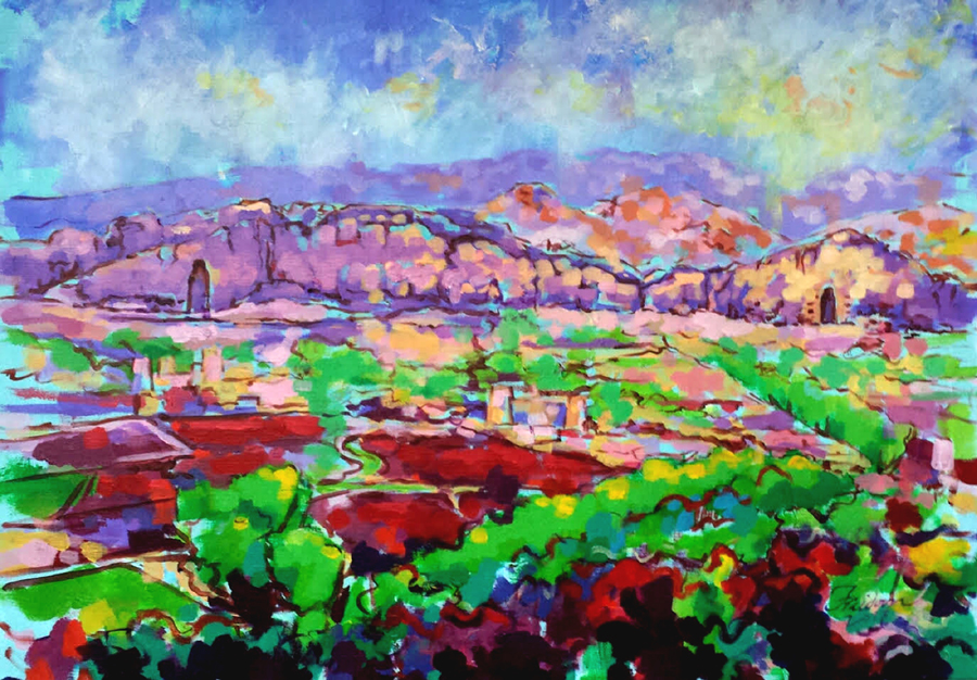Buddahs-Valley.95x134cm.Acrylic-on-Canvas.-July-2016