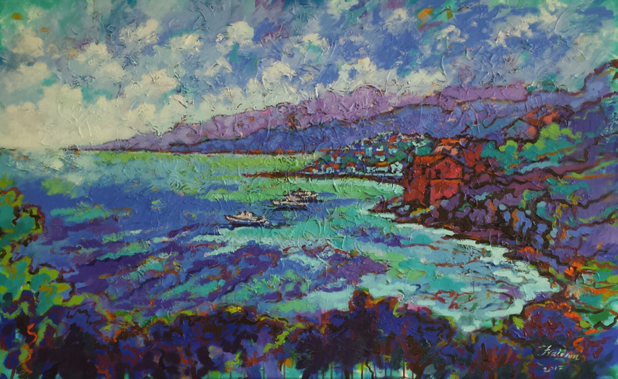 Kefalonia.100x160cm.Oil-on-canvas.July-2017