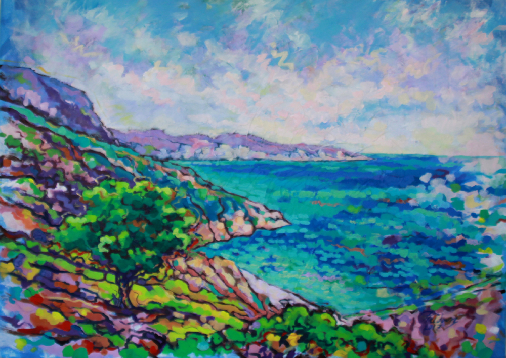 Kefalonia.Greece.100x140cm.Acrylic-on-Canvas.1.2017
