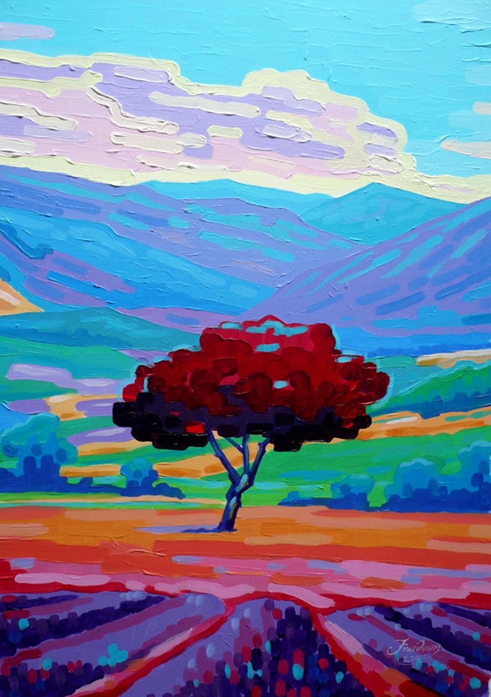 Mesmerizing-Provence.40-x-60-cm.-Acrylic-on-Cardboard
