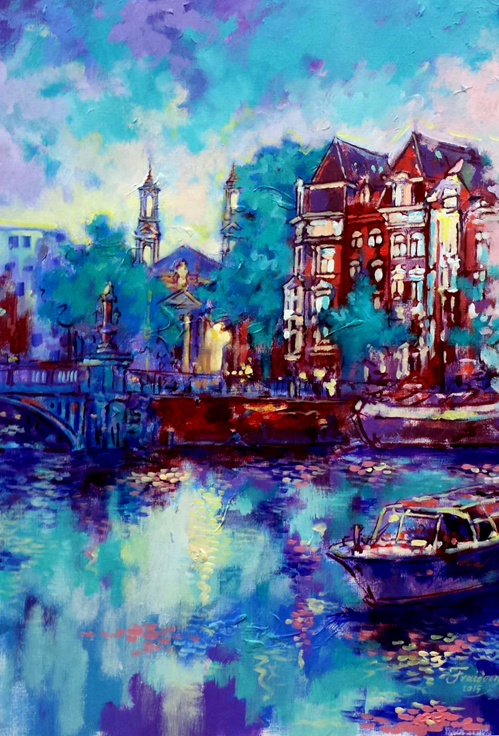 Moses-and-Arons-Church-Amsterdam.-43x63cm.Acrylic-on-Paper-June-2015