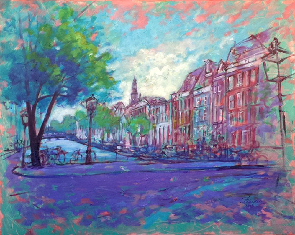Zuiderkerk-Amsterdam-80x100cm-Acrylic-on-Canvas-Nov2018