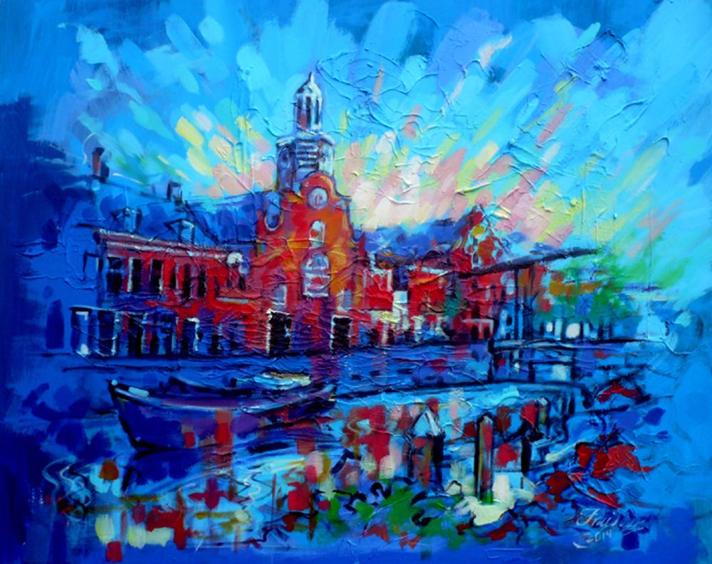 delfshaven-rotterdam-80x100cm-mixed-media-28-march-2014