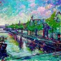 Nieuwe-Keizersgracht-Amsterdam-80x100cm-Acrylic-on-Canvas-Nov-2018