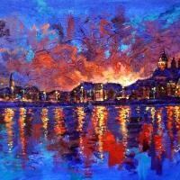 burning-amsterdam-70x100cm-mixed-media-on-canvas-june-2015